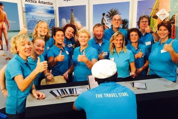 the travel stars leden op de beurs