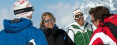 ski met groep